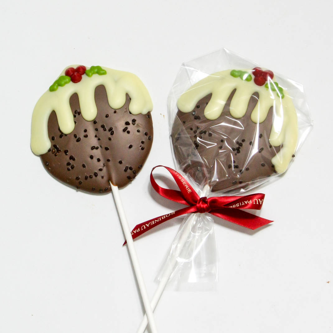 Christmas Pudding Lolly