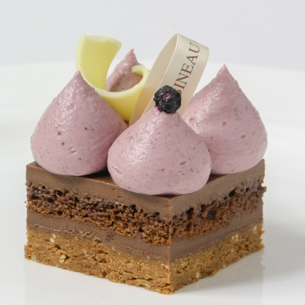 Praline Torte with Blackcurrant and White Chocolate