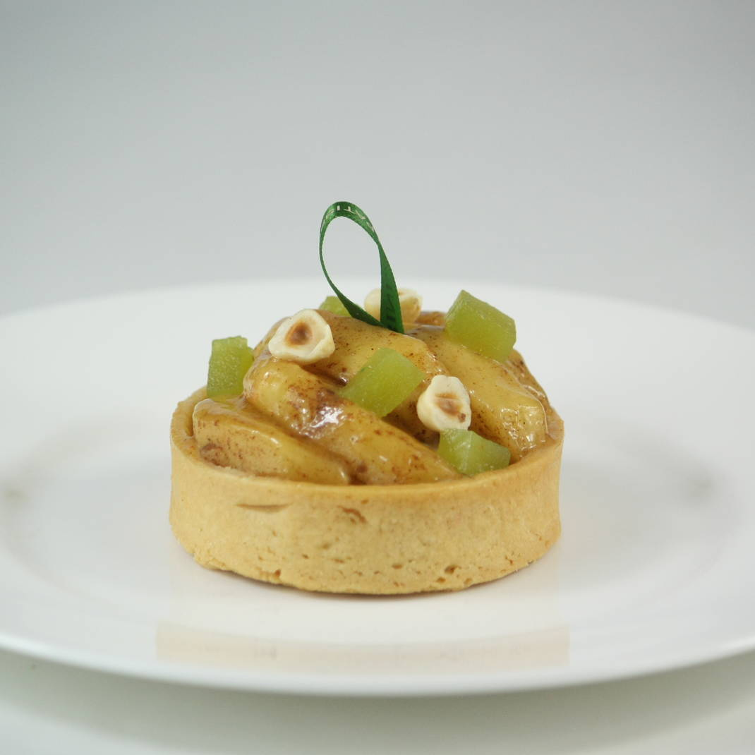 Spiced Apple & Hazelnut Tart