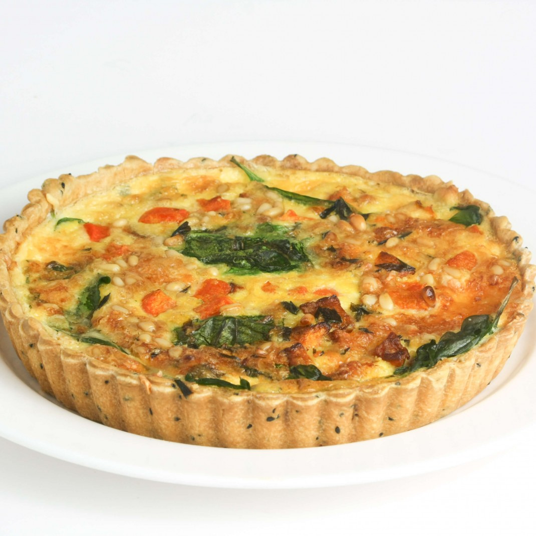 Small Quiche: Roasted Butternut Squash, Sage, Onion and Pine Nut